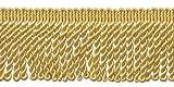 6,3cm Edelstahldraht Fransen Rand, Stil # ef25Farbe: Light Gold–B7, verkauft von der Yard