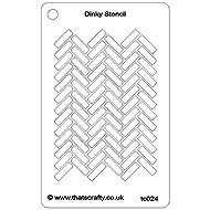 "That's Crafty Dinky Stencil 3""X4.75""-Herringbone Background"