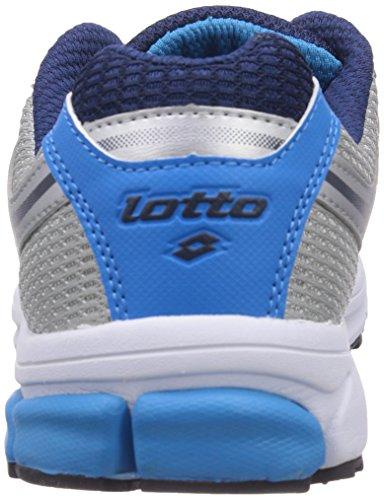 Lotto Sport - Zenith V, Scarpe da corsa Uomo Multicolore (Mehrfarbig (MET SIL/CYAN 15))