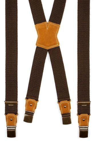 Trachten Hosenträger - SIMPLE - braun, Größe 100 cm