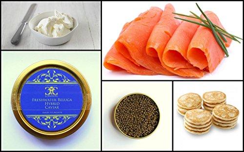 50 gr.'Party Pack' Paquete de fiesta de caviar de Beluga de agua dulce . Entrega Express 5-10 €.