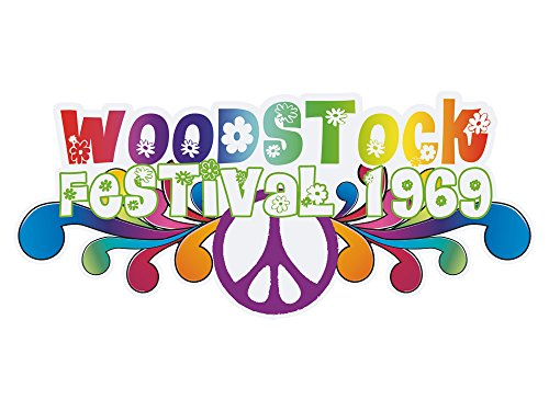 GRAZDesign Tapetensticker Woodstock 1969 - Walltattoo Festival - Wandtattoo Flower Power Aufkleber / 114x50cm / 881038_50