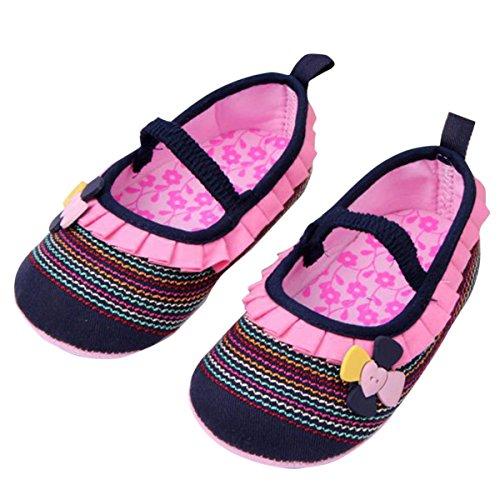 Happy Cherry Babyschuhe weiche Lauflernschuhe Frühling Nette Beiläufige Schuhe Kleinkind rutschfest Floral Krabbelschuhe (13-18 Monate) - Dunkelblau Dunkelblau