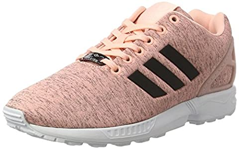 adidas Zx Flux, Chaussures de Running Femme, Rose (Haze Coral/Core Black/Ftwr White), 38 2/3 EU