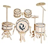 Etna Iława Schlagzeug 3D Holzbausatz Drumset Musikinstrument Holz Steckpuzzle Holzpuzzle Kinder G-PM006