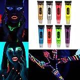 LuckyFine UV Helle fluoreszierende kosmetische Gesichtsbemalung Bodypainting Bodypainting Creme Farbe lila