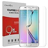 Samsung Galaxy S6 Edge Protecteur D'écran, Lanhiem Verre Trempé Protecteur [Garantie à Vie] [Couverture Complète] Anti Rayures pour Samsung Galaxy S6 Edge, Transparent