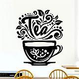 wandaufkleber spr wandaufkleber baum mit fotos Liebe Tee Tasse Küche Tee für Café Zeichen Tasse Restaurant Tür Fenster Pub Cafe Decor