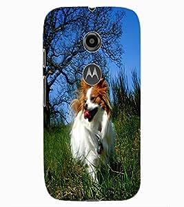 ColourCraft Cute Dog Design Back Case Cover for MOTOROLA MOTO E2