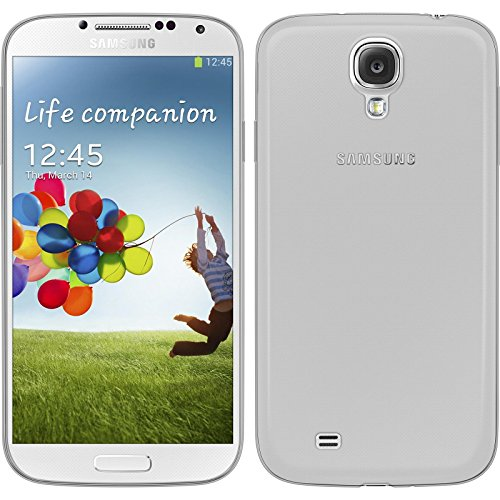 Coque en Silicone pour Samsung Galaxy S4 - Slimcase transparent - Cover PhoneNatic Cubierta + films de protection