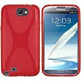 mumbi X-TPU Silikon Schutzhülle für Samsung Galaxy Note 2 rot