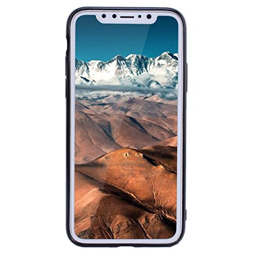 WE LOVE CASE Coque iPhone X, Paillette Glitter Ultra Fine Souple Gel Coque iPhone X Silicone Motif Coque Girly Resistante, Coque de Protection Bumper Officielle Coque Apple iPhone X Or Vert