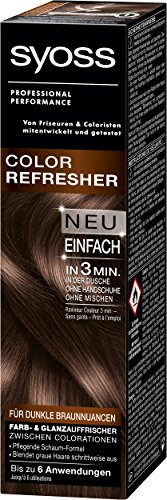 Syoss Color Refresher Haarfarbe, Dunkle Braunnuancen, 3er Pack (3 x 75 ml)