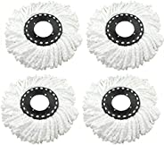 ALOUD CREATIONS Microfiber Universal Fit Replacement Refill for 360 Rotating Spin Mop Cleaner - Pack of 4