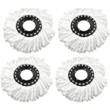 Aloud Creations Replacement Refill For 360 Rotating Spin Mop Cleaner,For Gala, Premsons, Scotch Brite, Pigeon, Etc.,Pack Of 4