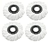 #8: Replacement Refill for 360 Rotating Spin Mop Cleaner - Universal Fit - For Gala, Premsons, Scotch Brite, Pigeon, Primeway etc., Pack of 4