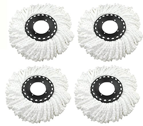 Replacement Refill for 360 Rotating Spin Mop Cleaner - Universal Fit - For Gala, Premsons, Scotch Brite, Pigeon, Primeway etc., Pack of 4  available at amazon for Rs.199
