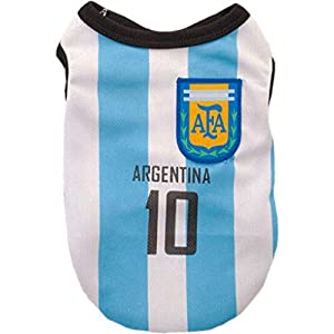 animally® Argentine Maillot pour chien – Football – Dog – Pet Clothes – T-Shirt – Vêtements