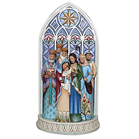 Heartwood Creek Cathedral Window Nativity Figurine