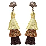 weiwei Herren Ohrringe Männer Ohr Nägel Legierung mit Fransen Ohrringe Bohemian National Wind Retro-Laminat Farbe Ohrringe
