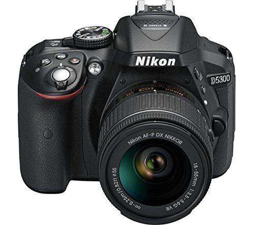 Nikon D5300 24.2MP Digital SLR Camera (Black) with AF-P 18-55mm...