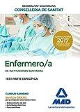 Enfermero/a de Instituciones Sanitarias de la Conselleria de Sanitat de la Generalitat Valenciana. Test  parte específica