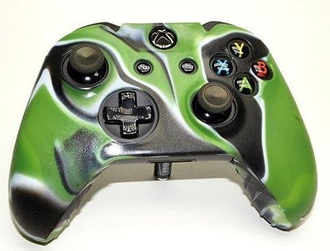 Étui/ housse coque de combo en silicone pour Microsoft Xbox One - Vert et Noir