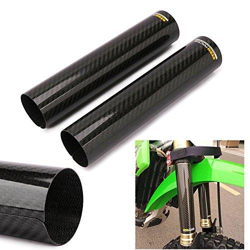 JFG RACING 23,9cm moto ammortizzatore anteriore shock forcella copertura Wrap Guard ghette Gators stivali regolabile universale per Dirt bike-fibra di carbonio