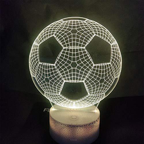 Led nachtlicht 3d usb tischfußball lampe acryl 7 farbe party home dekoratives licht kinder geschenk spielzeug