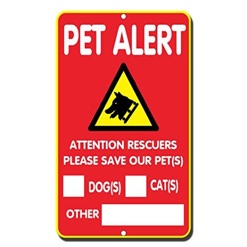 Fastasticdeals Pet Alert Rettungskräfte Aufmerksamkeit Bitte Save Our Pet (S) Hund (S) Katze (S), Andere Schild