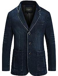WS668 Homme Slim-fit Denim Cotton Manteaux Casual Classique Fashion Business Costume Vestes Rétro Overcoat Mens Jackets