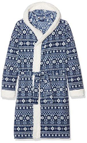 Preisvergleich Produktbild ESPRIT Bodywear Mädchen Bademantel 106EF5Y005, Blau (Navy 400), 146 (Herstellergröße: 152/158)