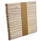 Mini Holzspatel zum Auftragen von Wachs und Zuckerpaste für die Haarentfernung - 50 Stück - 1x11,5 cm