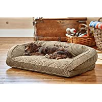Orvis Comfortfill Bolster Dog Bed / Small Dogs Up To 40 Lbs., Brown Tweed