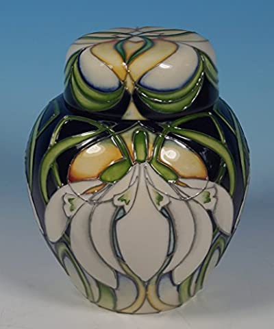 MOORCROFT Galanthus Snowdrops 769/4 Lidded Ginger Jar 1sts RRP £410