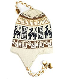 Gamboa - Alpaga Bonnet - Chapeau d Alpaga avec Oreillettes - Marron Clair 57d3405f35a