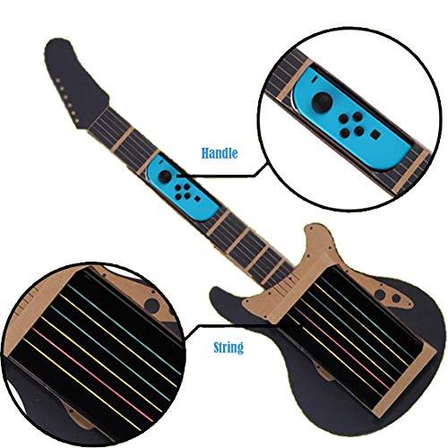 Fcostume Lernspielzeug Karton Gitarren Zubehör DIY Guitar Kit für Nintendo Switch (AS Show)