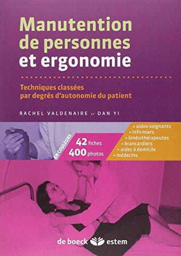 Manutention de personnes et ergonomie - Techniques classées par degrés d'autonomie du patient