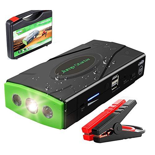 HYM Car Jump Starter - 600A 14800mAh Power Pack und Auto Battery Booster für 12V Fahrzeuge (bis zu 6.0L Gas, 5.0L Dieselmotoren) mit USB Port und LED Taschenlampe
