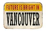 LEotiE SINCE 2004 Fuß Hunde Matte Bett Fernweh Stadt Vancouver Kanada Bedruckt 40x60 cm