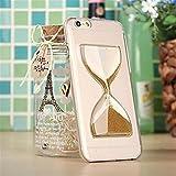 NightKid Registros de creativo diseño retro de tiempo reloj de arena transparente a la funda (iPhone 4/4S iPhone 6S Plus iPhone 6S iPhone 6 Plus iPhone 6 iPhone 5C iPhone 5/5S )(iPhone 6/4.7,Oro)