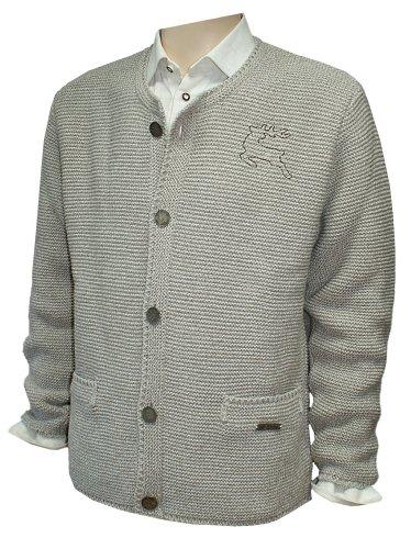 Brown-streifen-wolle-anzug (46-62 Trachten Strickweste Strickjacke Jacke Trachtenjacke Trachtenjanker beige, Größe:60)