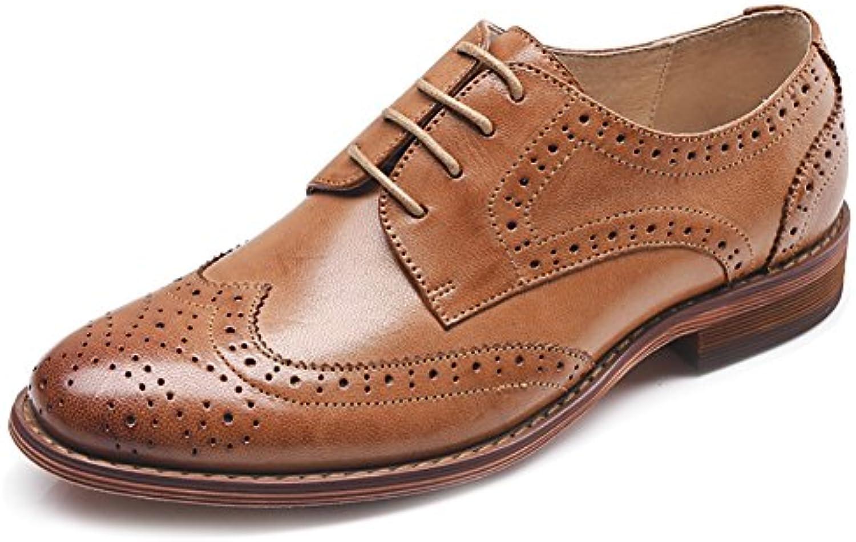 ODEMA Donne Cuoio Oxfords Perforato in in in Pizzo-up Wingtip Low Heel intagliando Scarpe da Vestito di Brogue   Louis, in dettaglio    Scolaro/Ragazze Scarpa  2ee99d