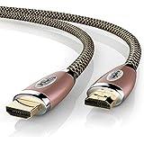 Uplink Premium - 2m HDMI câble 4K Ultra HD mâle-mâle | 4K Ultra HD 2160P / 3D | Design Câble en Nylon Tressé en cuivre