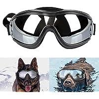 dubens Fashion Perros Gafas Gafas de sol Gafas de protección impermeable Sun, protección UV Eyewear Goggles Gafas de protección, ajustable mascotas Gafas, adecuado para Medianas y grandes perros, color negro