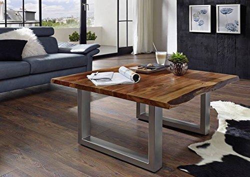 FREEFORM 2 Table basse #10 90x90cm Acacia bois massif