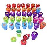 Gudotra 38pz Giocattoli di Timbri Animali Stampini per Bambini Gadget Compleanno Bambini Regalo Bomboniere Natale(Animali-38pz)