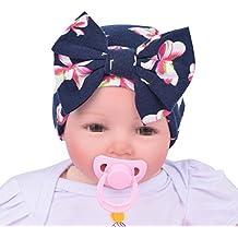 Tyidalin Lot de 3 Bonnet de Naissance Bébé Fille, 100 % Coton Beanie Nœud eecc87c9f2f