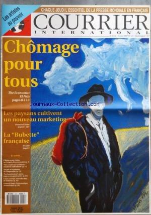 COURRIER INTERNATIONAL [No 121] du 25/02/1993 - SOMMAIRE - LA SEMAINE DE COURRIER - ETATS-UNIS - CLINTON UN VISIONNAIRE AU CONGRES - EX-YOUGOSLAVIE - UNE GUERRE POUR LE PROFIT - POLOGNE - LES REFUGIES OU COMMENT SÔÇÖEN DEBARRASSER - PAYS-BAS - UNE LOI HITLERIENNE SUR LÔÇÖEUTHANASIE - FRANCE - MICHEL ROCARD PREND DES RISQUES - A LA UNE - CHOMAGE POUR TOUS - DES DEMANDEURS DÔÇÖEMPLOI PAR MILLIONS - ESPAGNE LÔÇÖEMPLOI DISPARAIT AVEC LES PME - RENTABILISER LE CHOMAGE - EUROPES - DES CENDRES DU SOCI Pdf - ePub - Audiolivre Telecharger