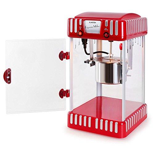Klarstein Volcano Popcornmaschine Popcorn Maker (300 Watt Rührwerk, Edelstahl-Topf, Innenbeleuchtung, ca. 60 l/h) rot-weiß - 9